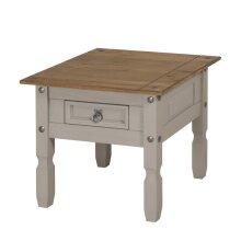 Corona Grey Wax 1 Drawer Lamp Table Coffee Table Pine Furniture