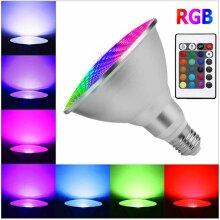 Dimmable RGB Waterproof LED PAR30 PAR38 Light Bulb E27 15W 25W Lamp 220V