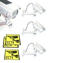 Ex-Pro Solar Powered Dummy Camera CCTV Security Surveillance Cam Fake IR LED 5PK