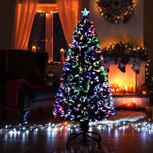 4ft 120cm Fibre Optic Christmas Tree Various Effects Xmas Decoration