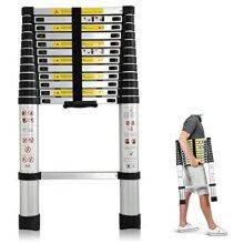 3.8 M Multi-Purpose Aluminium Telescopic Ladder Portable Ladder EN131m