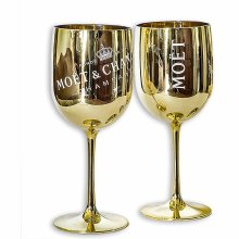 Moet & Chandon Ice Imperial Acrylic Champagne Glasses - Gold