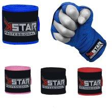 MMA K Star Cotton Hand Wrap Bandages (2Pcs)