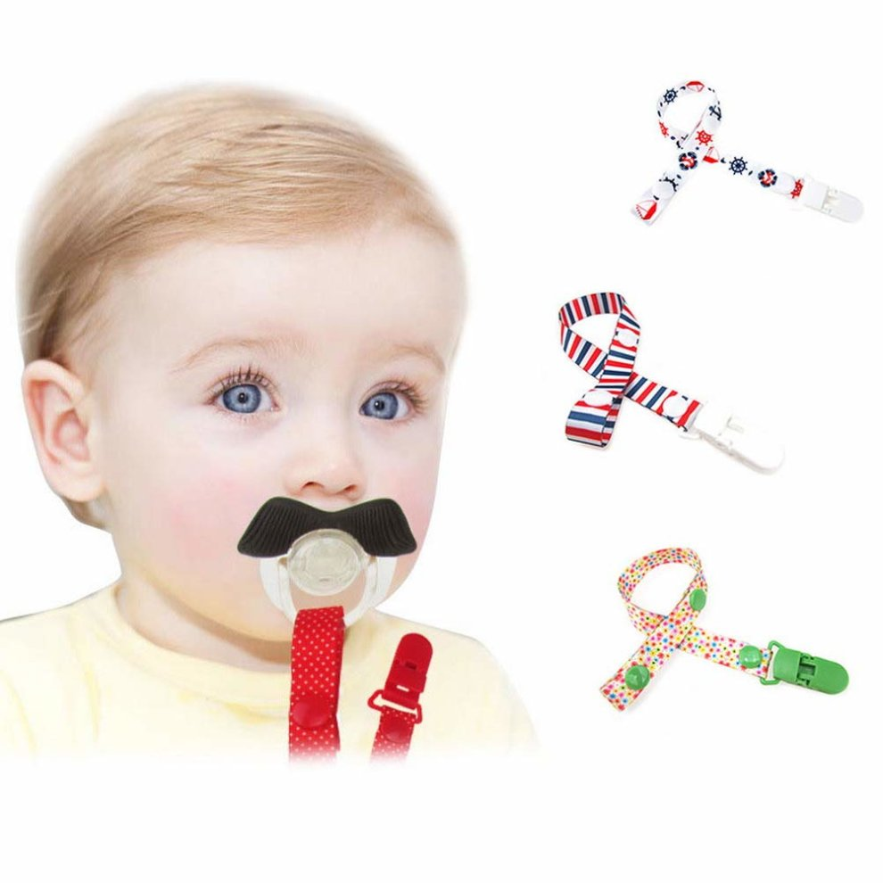 NEW GRIPTIGHT BABY SOOTHER DUMMY PACIFIER HOLDER CLIP STRAP SECURE 0m+