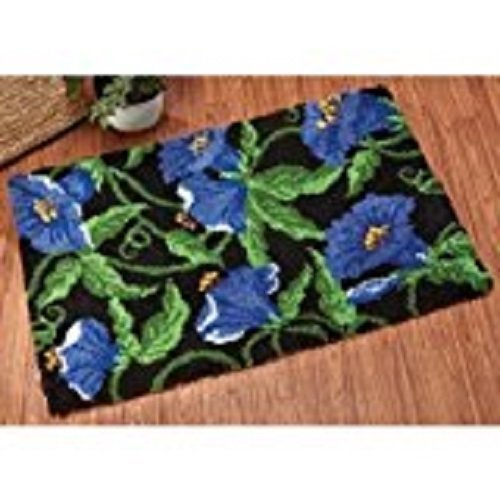 "Latch Hook Rug Kit""Blue Flowers"" 52x38cm"