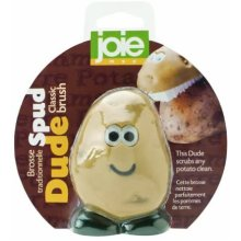 Joie Kitchen Gadgets Spud Dude Classic Brush Card, Fabric, Brown, A