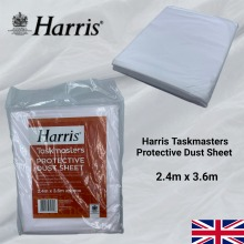 Harris Dust Sheets Heavy Duty Polythene DIY Paint Protection Cover