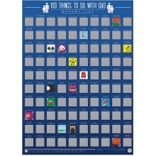 100 Things To Do With Dad Bucket List Scratch Poster