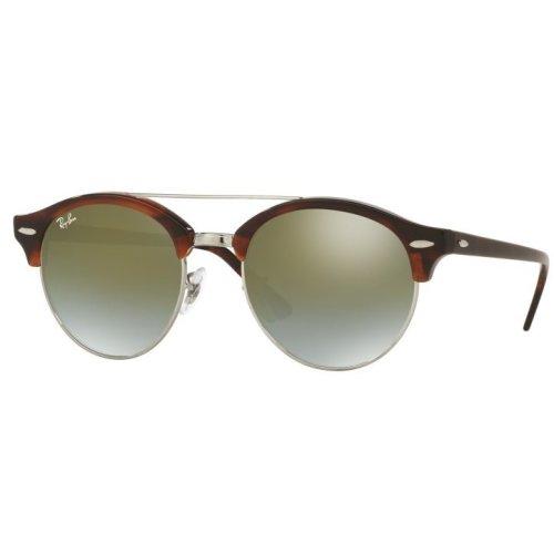 Ray-Ban Clubround Double Bridge Havana Sunglasses - RB4346-62519J-51
