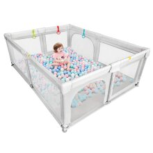 Dripex Breathable Mesh Extra Large Baby Playpen for Boys Girls Babies