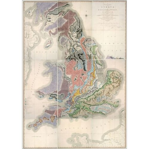 William Smith Geological Map (Poster Print)