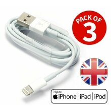 PACK OF 3 USB Lightning Charger & Data Sync Cable Lead For Apple iPhone 5 5s 5c 6 7 8 X XR 11 iPhone 11 Pro Max & iPad