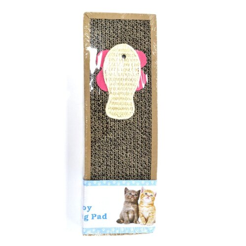 SCRATCHING PAD/MAT , CAT TOY/PLAY FUN CATNIP SACHET INCLUDED