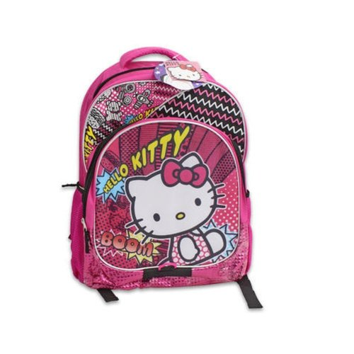 "Backpack - Hello Kitty - BOOM Pink 16"" School Bag New 119210"