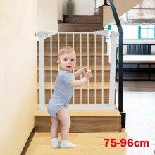 Baby Pet Gate Toddler Dog Stair Way Safety Lock Walk Thru Door