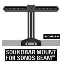 SANUS WSSBM1-B2 SONOS Beam Soundbar TV Mount for VESA TVs 37 - 70 in Black