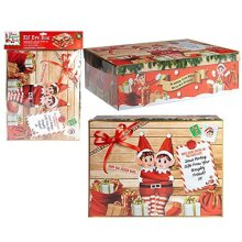 Elves Behaving Badly - 26.5cm Elf Eve Box - Storage Box - Xmas Eve Box