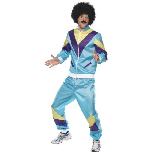 Ladies 1980s Height of Fashion Shell Suit Scouser Fancy Dress Costume Womens