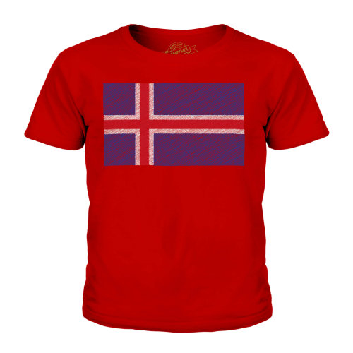Candymix - Iceland Scribble Flag - Unisex Kid's T-Shirt