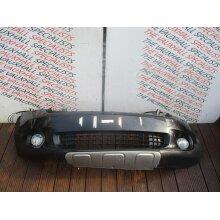 MINI COUNTRYMAN R60 10-17 FRONT BUMPER BLACK+LOWER GRILL +LIGHTS SCUFFS + BROKEN - Used