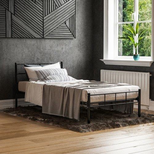 (Single, Black) Vida Designs Dorset Metal Bed Frame   Modern Bedstead