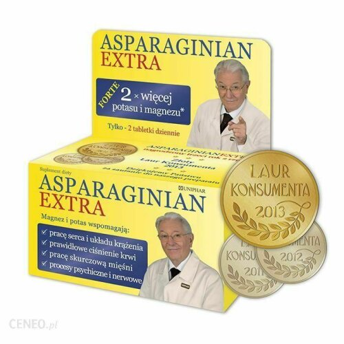 ASPARAGINIAN EXTRA 50 tab Double Dose of Potassium & Magnesium Magnez Potas
