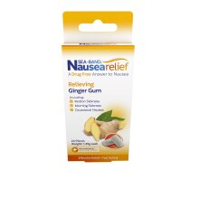 Sea-Band Anti-Nausea Ginger Gum For Motion & Morning Sickness, 24 Pieces