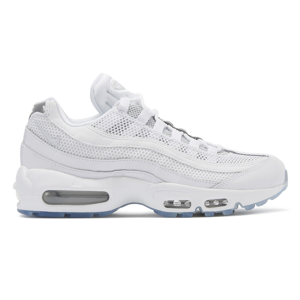 (UK 8) Nike Air Max 95 Essential Mens White / Silver Trainers
