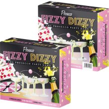 20PC PROSECCO FIZZY DIZZY PARTY GAME DRINKING PING PONG GLASS BALL NEW
