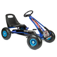Pedal Go Kart with Inflatable Tyres 5-8 Years - Blue