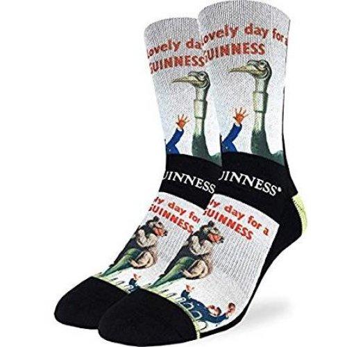 Socks - Good Luck Sock - Men's Active Fit - Lovely Day for a Guinness Bear (8-13) 4169