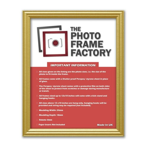 (Gold, 30x40 CM) New Antique Traditional Wooden Effects Picture Photo Frames