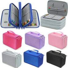 72 Slot Pencil Case Organizer Foldable Pen Storage Box Bag 4Layer Large Capacity