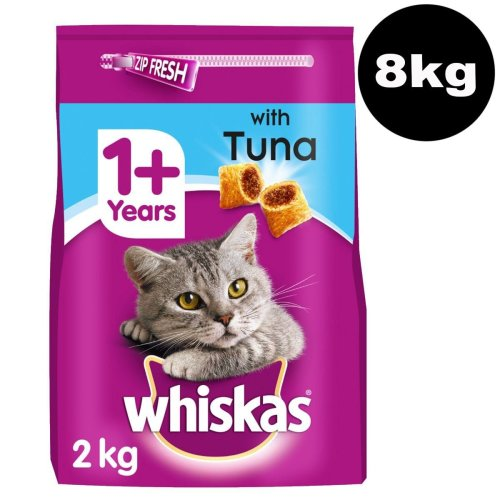 WHISKAS 1+ Cat Complete Dry With Tuna 4x2kg