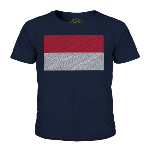 Candymix - Monaco Scribble Flag - Unisex Kid's T-Shirt