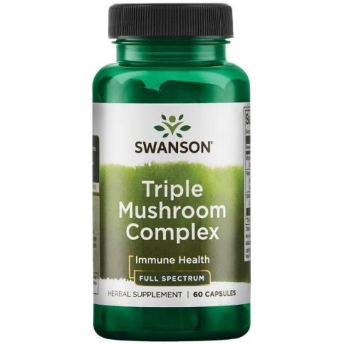 Swanson  Full Spectrum Triple Mushroom Complex - 60 caps