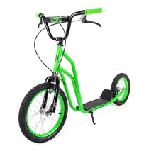 BMX New Big Wheel Green Scooter Push Bike Bicycle Girls Boys Gift UK