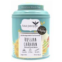 Tea People Russian Caravan - 20 Pyramid Tin Caddy