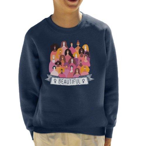 Girl Power Beautiful Banner Kid's Sweatshirt