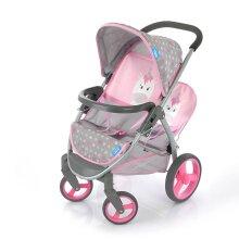 Hauck Malibu Duo Unicorn Twin Doll Stroller