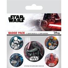 Star Wars Dark Side Badge Set (Pack of 5)