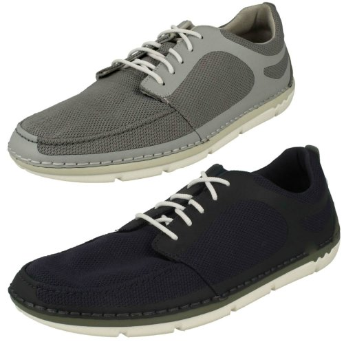 Mens Clarks Casual Lace Up Trainers Step Maro Sol - G Fit