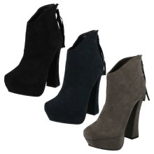 Ladies Coco Suedette Heeled Boots