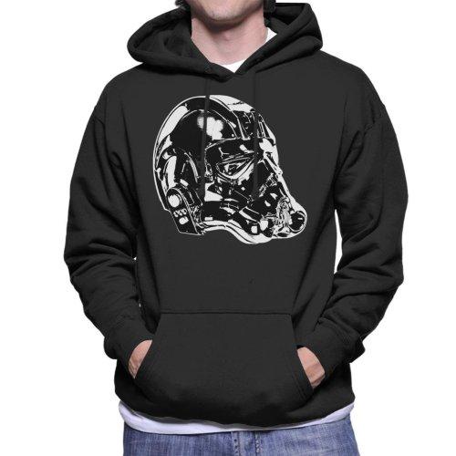 Original Stormtrooper Imperial TIE Pilot Helmet Side Shot Men's Hooded Sweatshirt