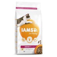 Iams Vitality Senior Cat Food With Fresh Chicken 2kg
