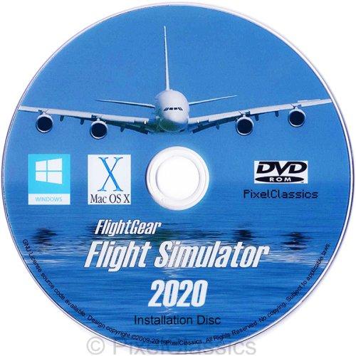 Flight Simulator 2020 X Flight Sim Plane & Helicopter FlightGear Including 500+ Aircraft DVD CD Disc For Mac OS X