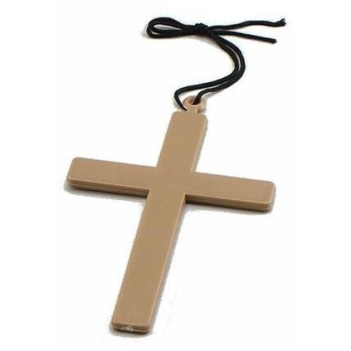 Gold Cross Accessory For Fancy Dress-Monk crucifix Vicar Costume Priest Large