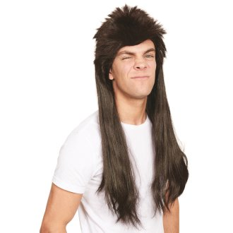 80/'s Mega Mullet Wig Blonde and Brown Adult Mens Smiffys Fancy Dress Costume