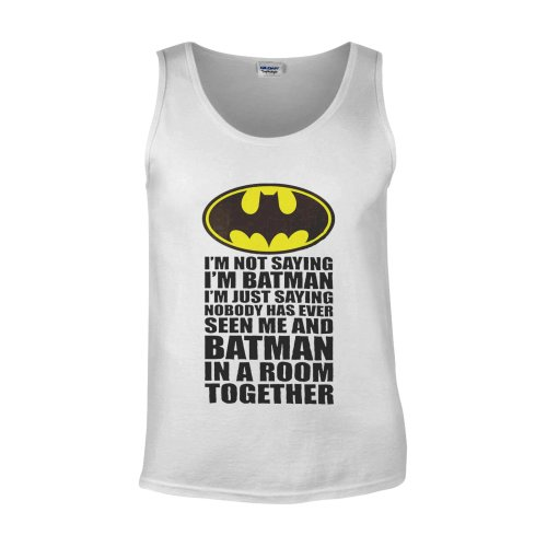 I'm Not Saying I'm Batman In A Room Novelty Forest White Men Vest Tank Top