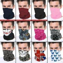 Bandana Face Covering Mask Biker Tube Snood Scarf Neck Cover